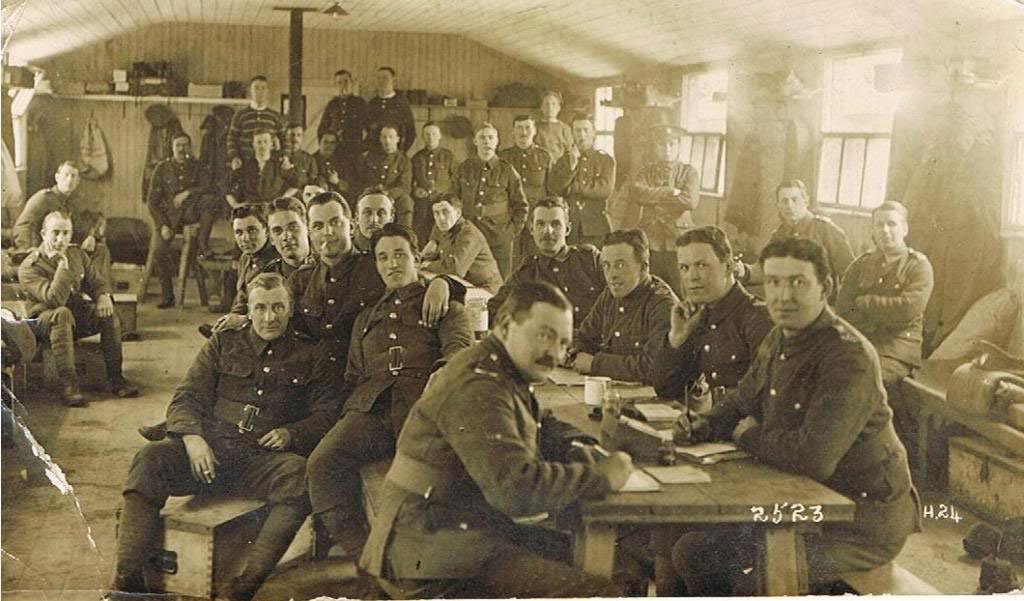 Men At Hare Hall Training Camp, Essex