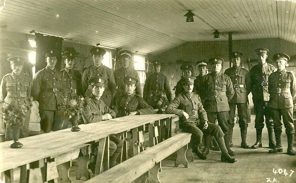 Men At Hare Hall Training Camp, Essex