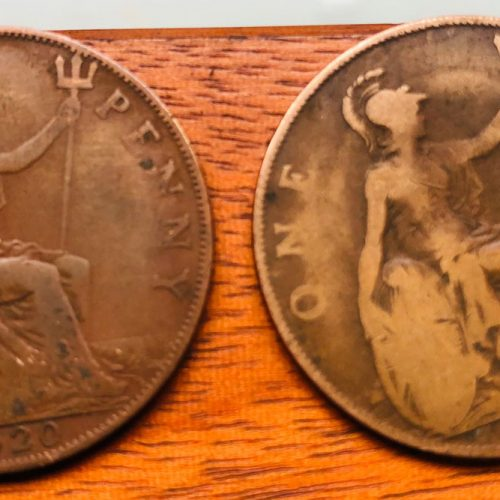 Old Penny Pieces