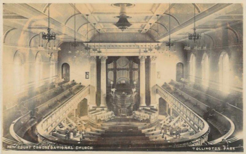 New Court Congregational church postcard
