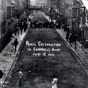 Campbell Road, Finsbury Park, Peace Celebration 1919