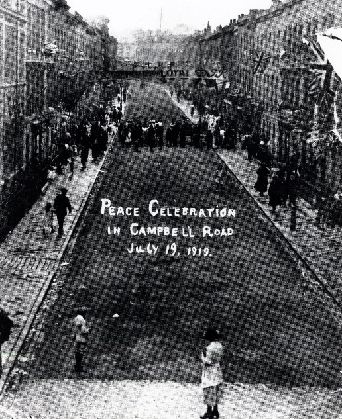 Campbell Road, Finsbury Park, Peace celebration 1919