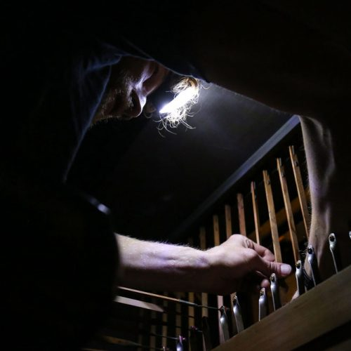 Organ Restorer At Work