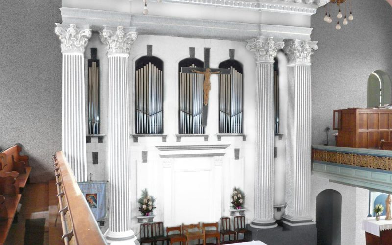 Mock-up of new organ screen