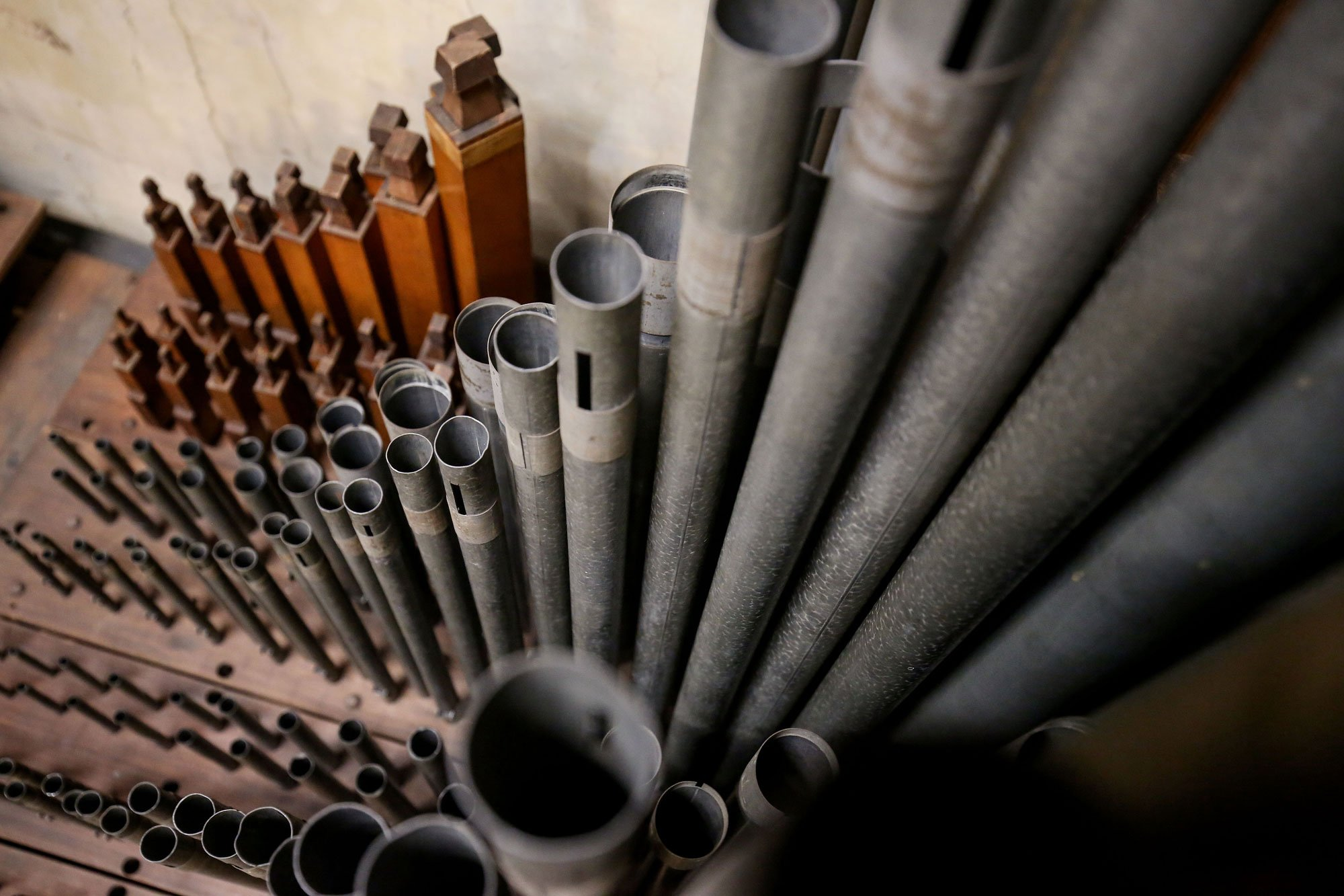 Organ Pipes In Soundboard