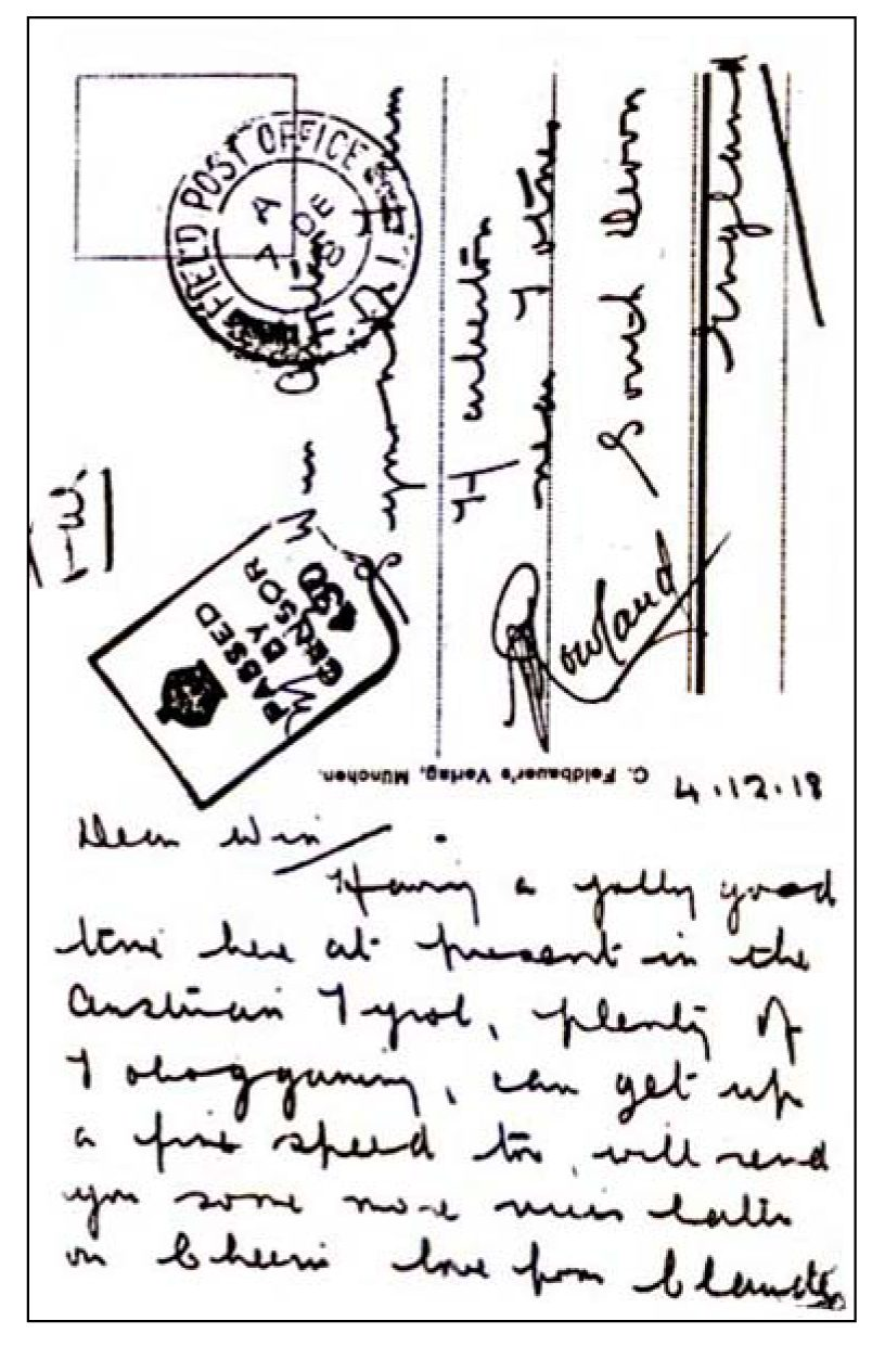 Postcard From A Soldier Of 2nd Battalion, HAC