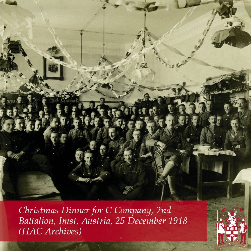 Christmas Dinner 1918 For C Company, 2nd Battalion, HAC